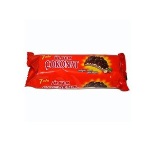 Ulker cokonat ronde choco wafels (7 stuks)